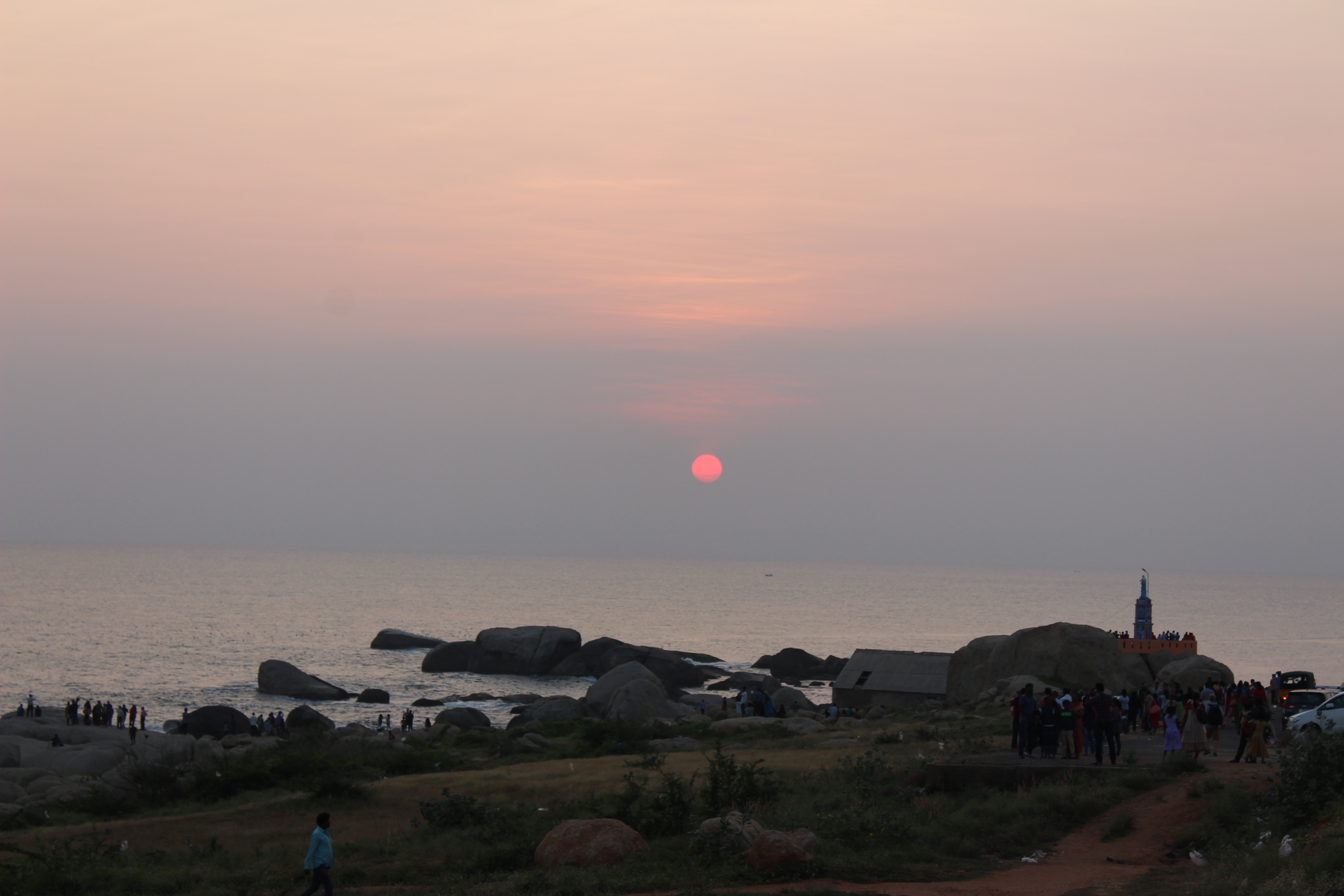 kanyakumari sunset
